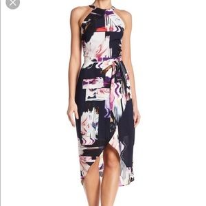 ABS tulip hem dress ABS watercolor print size 4